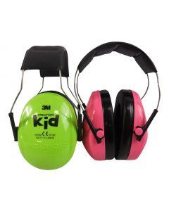 Hörselskydd Peltor Kid Neongrön och neonrosa